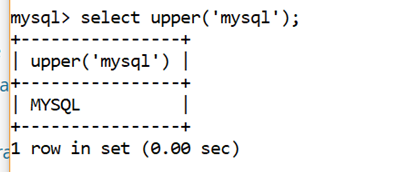 MySQL String UPPER() Function