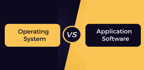 Operating system vs Application software