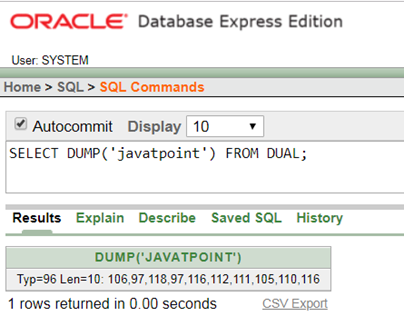 Oracle string Function