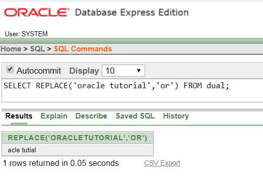 Oracle String REPLACE() Function - javatpoint