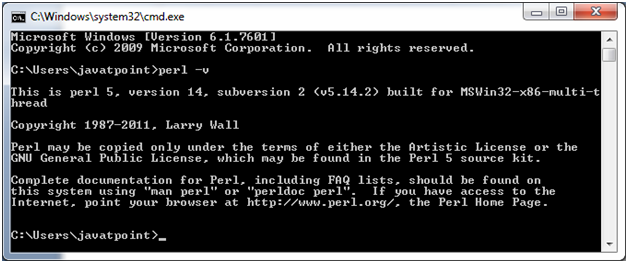 Perl Installation 1