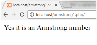 PHP Armstrong number 1
