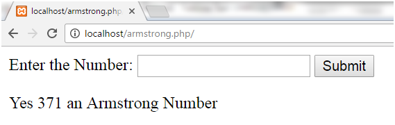 PHP Armstrong number 2