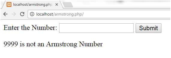 PHP Armstrong number 3