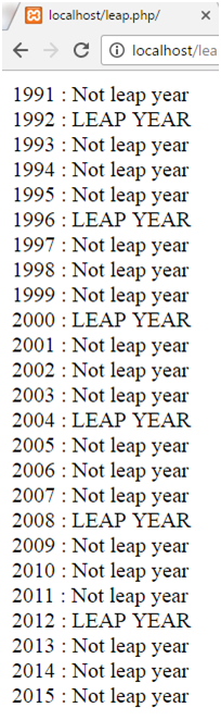 PHP Leap year 1