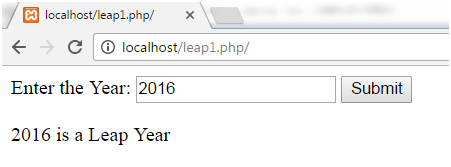 PHP Leap year 2