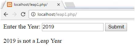 PHP Leap year 3