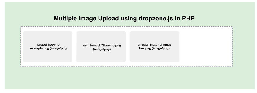 Multiple File Upload using Dropzone JS in PHP