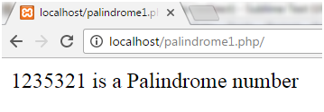 PHP Palindrome number 1