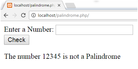 PHP Palindrome number 3