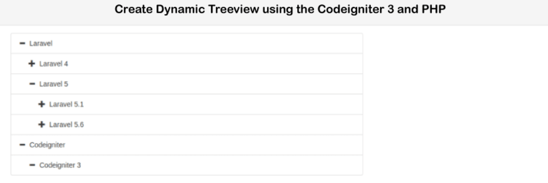 PHP Codeigniter 3 Create Dynamic Tree View using Bootstrap Treeview JS