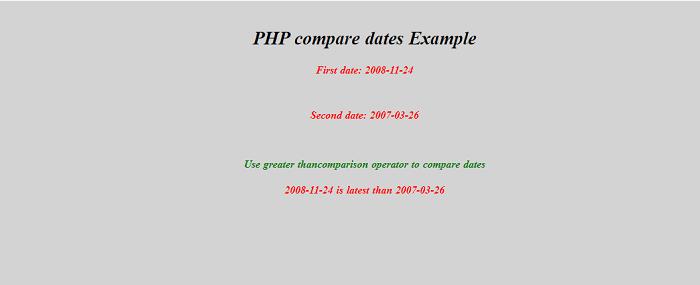 PHP compare dates
