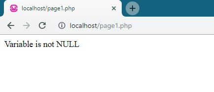 PHP is_null() function