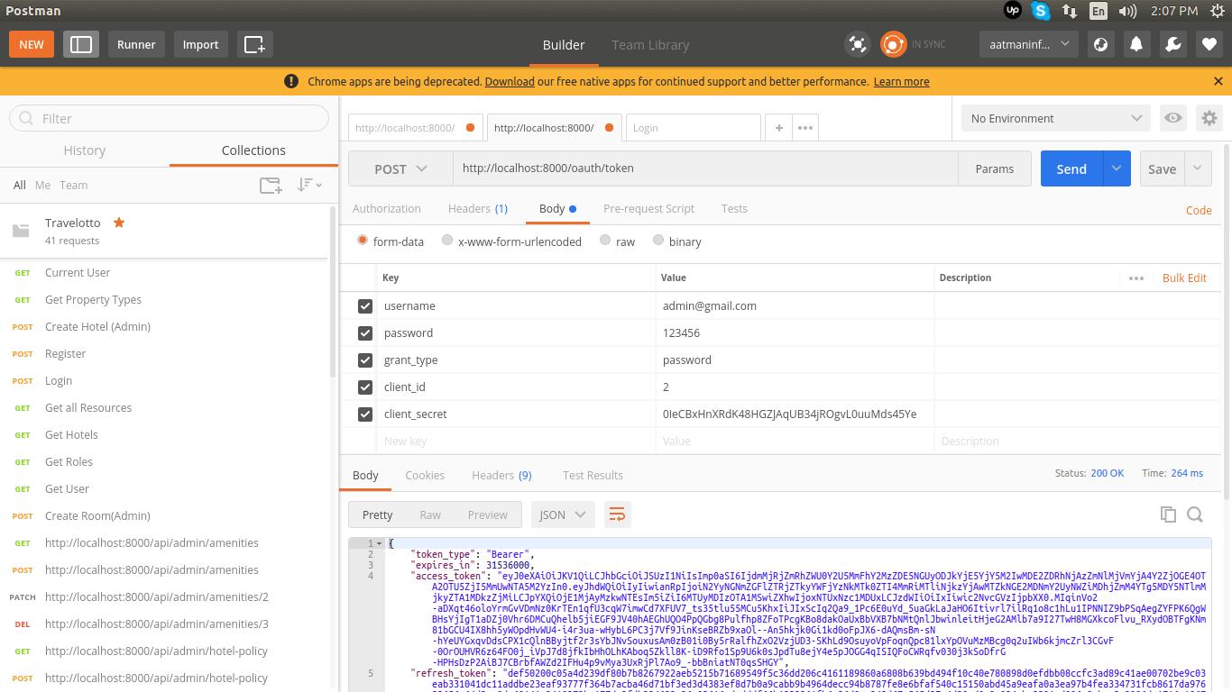 PHP Laravel 5.6 - Rest API with Passport