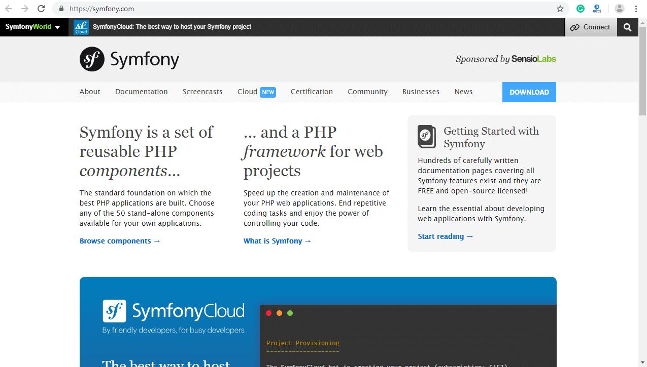 Top 10 PHP frameworks