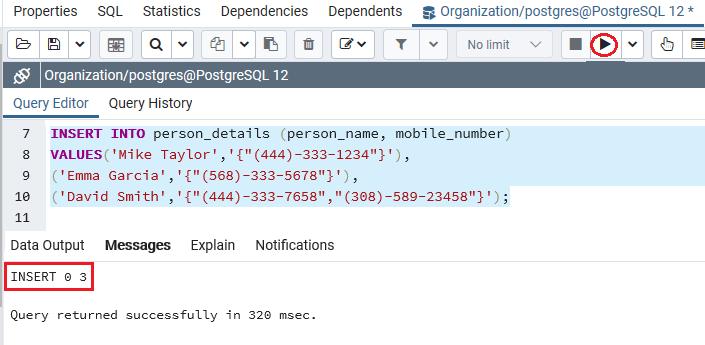 PostgreSQL Array