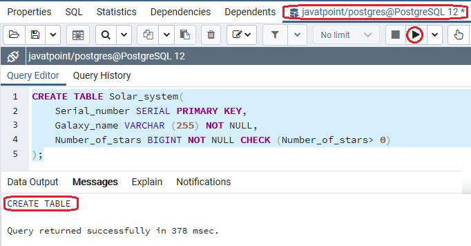 PostgreSQL BIGINT