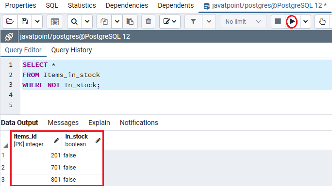 PostgreSQL Boolean