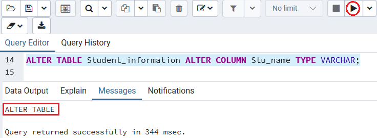 PostgreSQL Change Column Type