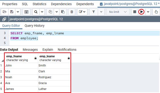 PostgreSQL Column Alias