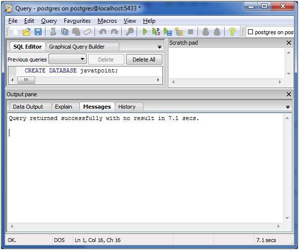 create database4