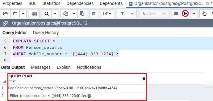 PostgreSQL Create Index