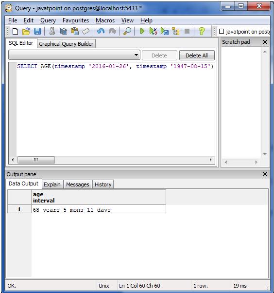 PostgreSQL Date&Time1