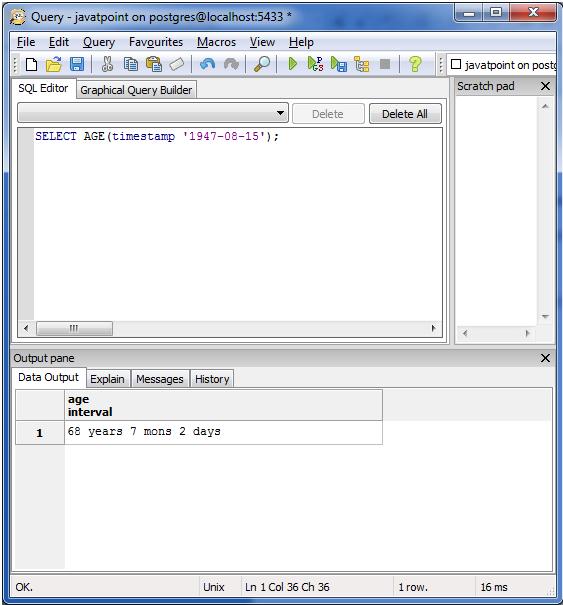 PostgreSQL Date&Time2