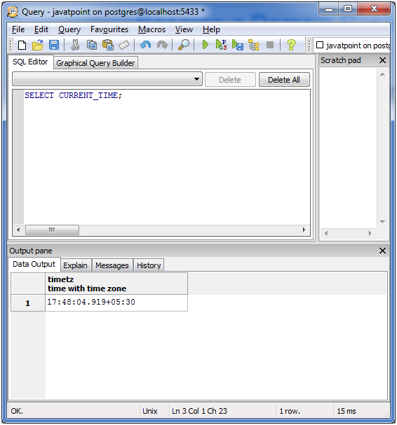 PostgreSQL Date&Time3