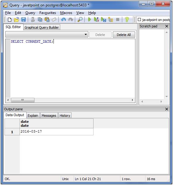 PostgreSQL Date&Time4
