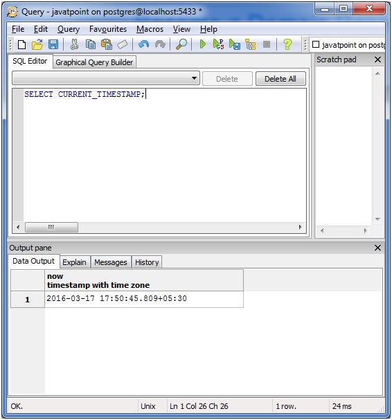 PostgreSQL Date&Time5
