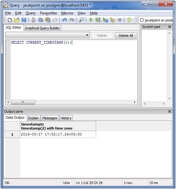 PostgreSQL Date&Time6
