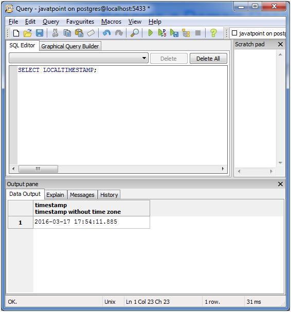 PostgreSQL Date&Time7
