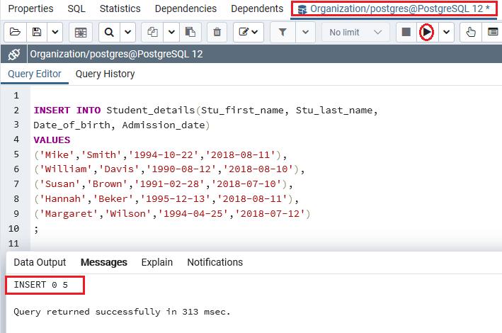 PostgreSQL Date