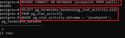 dropdatabase