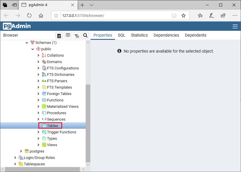 PostgreSQL Drop/Delete Table