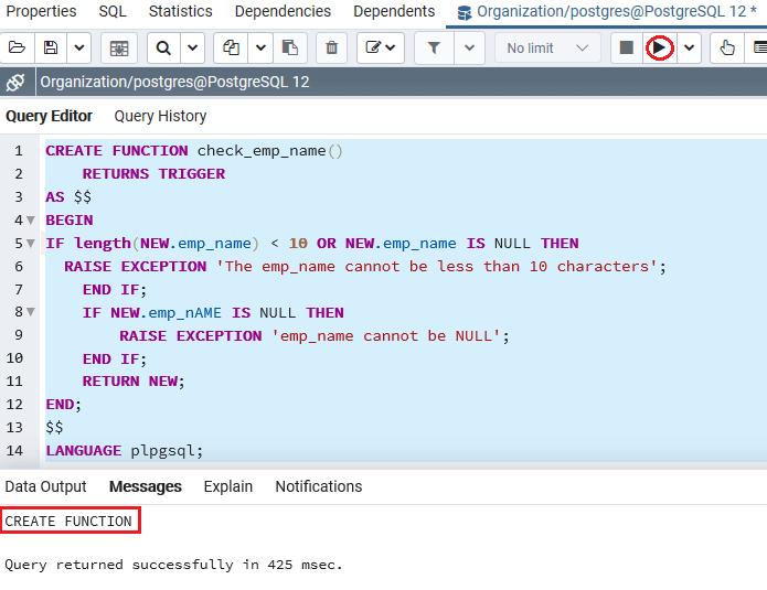 PostgreSQL DROP Trigger