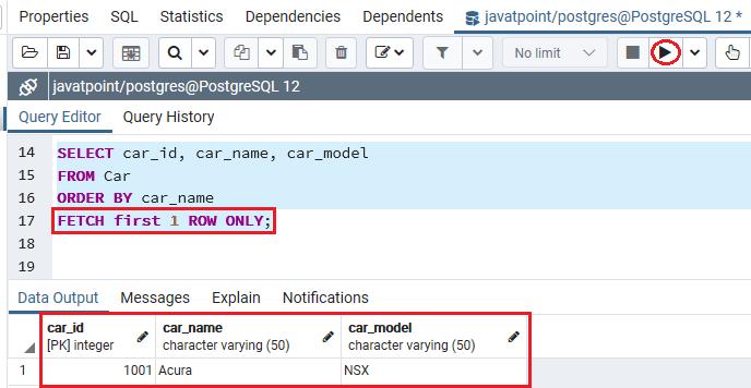 PostgreSQL Fetch Clause