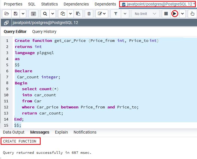 PoatgreSQL Function2