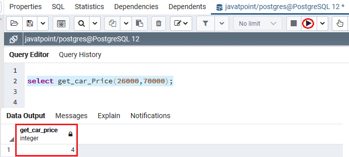 PoatgreSQL Function