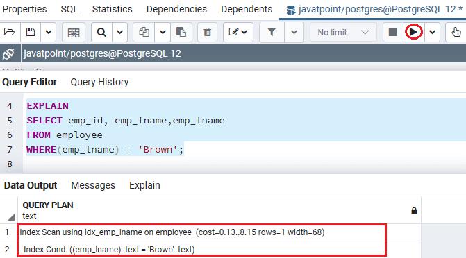 PostgreSQL Index on Expression
