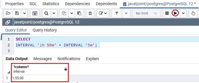 PostgreSQL Interval