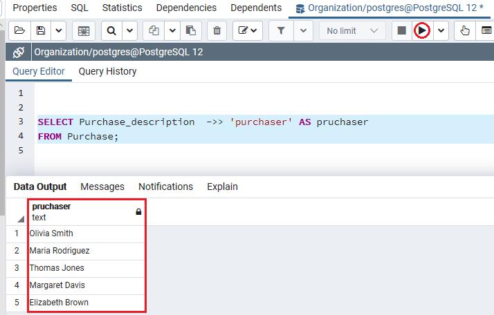 PostgreSQL JSON