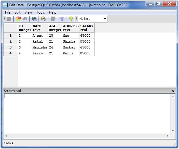 PostgreSQL left join2