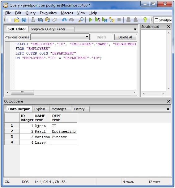 PostgreSQL left join4