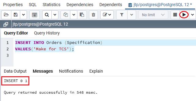 PostgreSQL Not-Null Constraint
