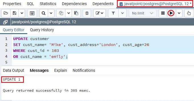 PostgreSQL OR Condition