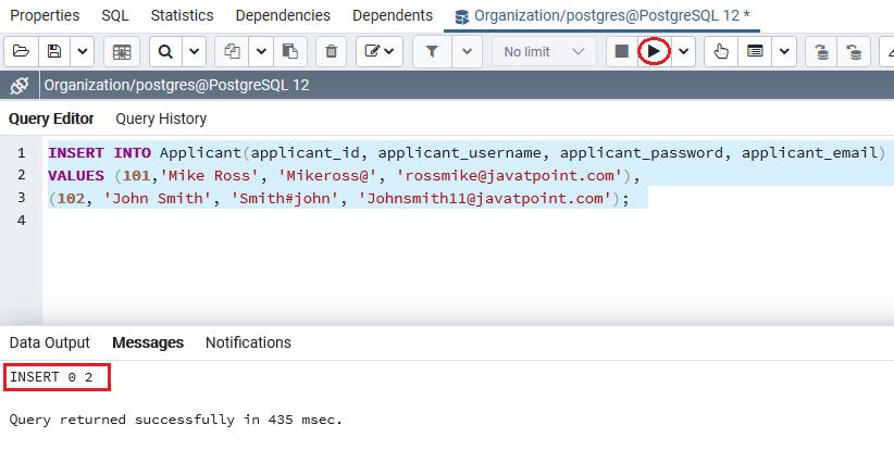 PostgreSQL Primary key