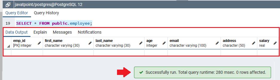 PostgreSQL Schema