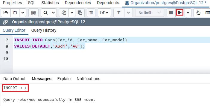 PostgreSQL Serial